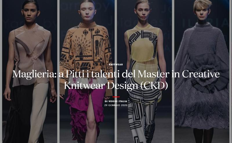 Maglieria: a Pitti i talenti del Master in Creative Knitwear Design (CKD)